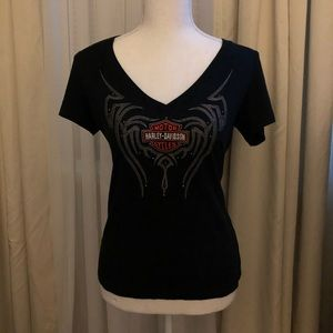 Authentic women's Harley Davidson V-neck T-shirt.